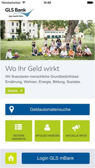 neu gls website mobil und gls mbank app das blog. Black Bedroom Furniture Sets. Home Design Ideas