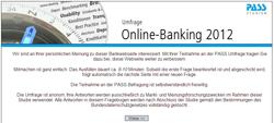 Umfrage mit PASS zum Online-Banking