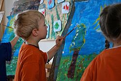 Kinder malen