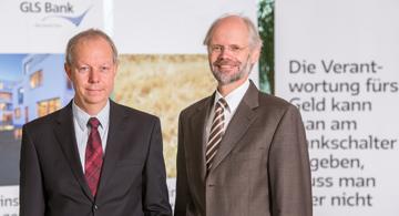 GLS Vorstand Thomas Jorberg (li), Andreas Neukirch