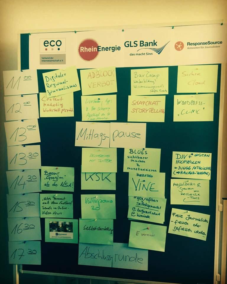 DJV Barcamp Sessionplan