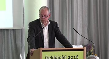 Vortrag von Thomas Jorberg beim Geldgipfel 2016