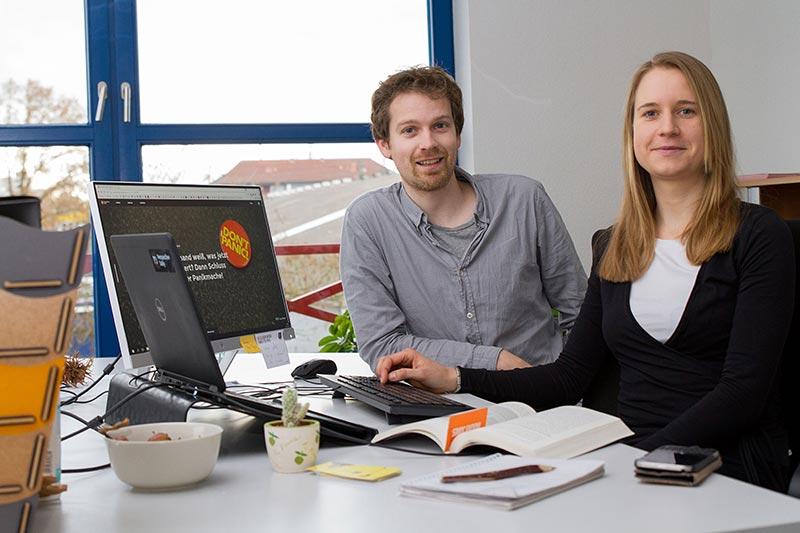 Die Gründer von Perspective Daily Maren Urner und Han Langeslag.