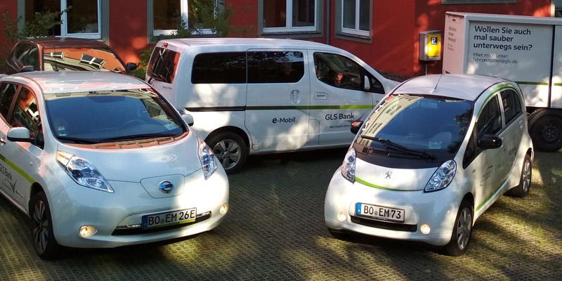 E-Flotte der GLS Bank / Mobilitätswende