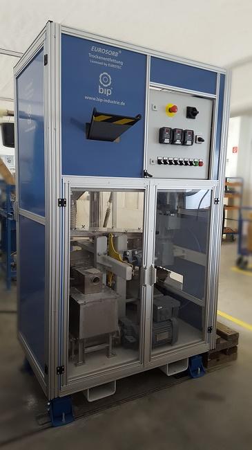 BIP-Industrietechnik, Trockenentfettungsanlage zur Reinigung von Kleinteilen