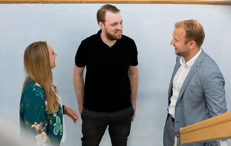 Drei mal Ohr, Stimme und Hand der GLS Bank: Theresa Schwarz, Christoph Molsich und Michael Orth.