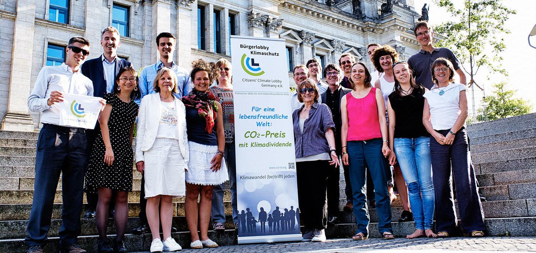 Jahrestreffen der Bürgerlobby Klimaschutz 2018, vor dem Reichstag in Berlin.