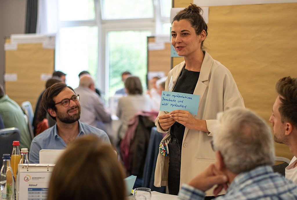 Klima Mitbestimmung Jetzt: Kleingruppenarbeit