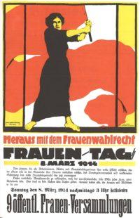 Plakat für den Frauentag am 8. März 1914 Weltfrauentag